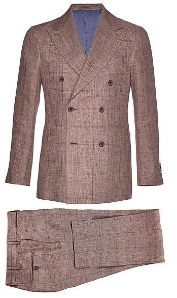 Suitsupply Madison Light Brown Check Suit