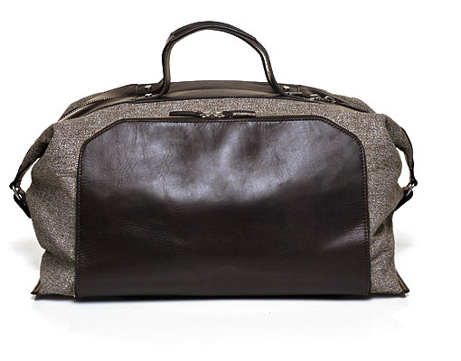 Suitsupply Light Brown Weekender Bag