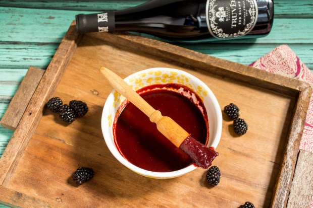 Blackberry Chipotle Red Wine Barbecue Sauce