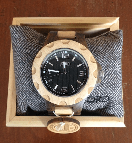 Jord Sully Black & Maple Watch