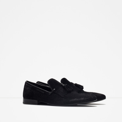 Zara Leather Loafer With Fringe Detail 2