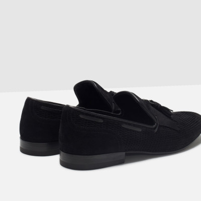 Zara Leather Loafer With Fringe Detail 4