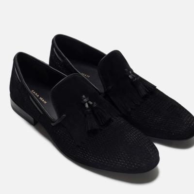 Zara Leather Loafer With Fringe Detail 5