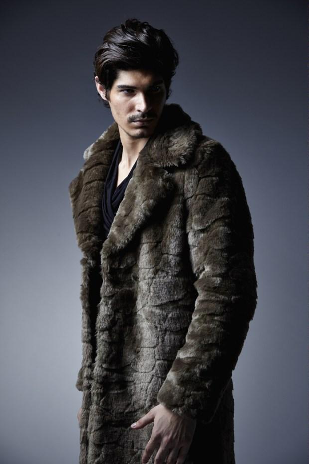 Charly Calder Men's Rome Faux Fur Coat 3