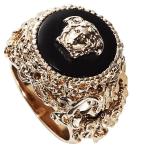 Men's Versace Round Barocco Ring