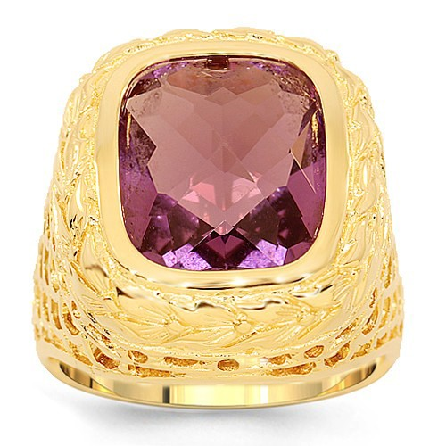 Avianne Jewelers 14K Gold Mens Amethyst Pinky Ring 3