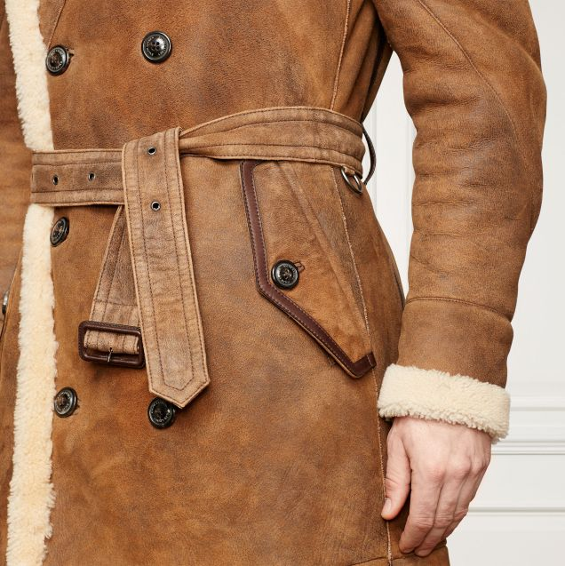 Ralph Lauren Purple Label Arbury Shearling Coat