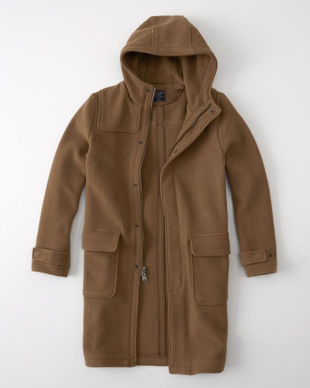 Abercrombie & Fitch Men's Camel Duffle Coat