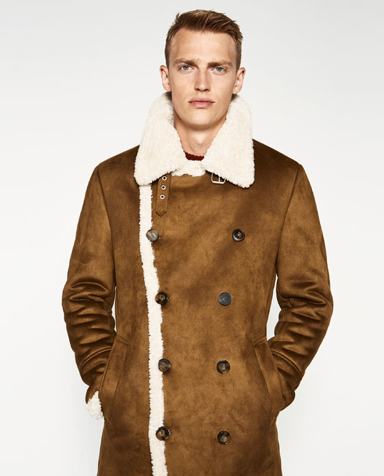 ZARA Man Double-Faced Coat