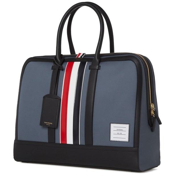 Thom Browne Leather Stripe Mackintosh Day Bag