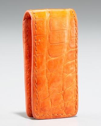 Santiago Gonzalez Crocodile Money Clip Orange