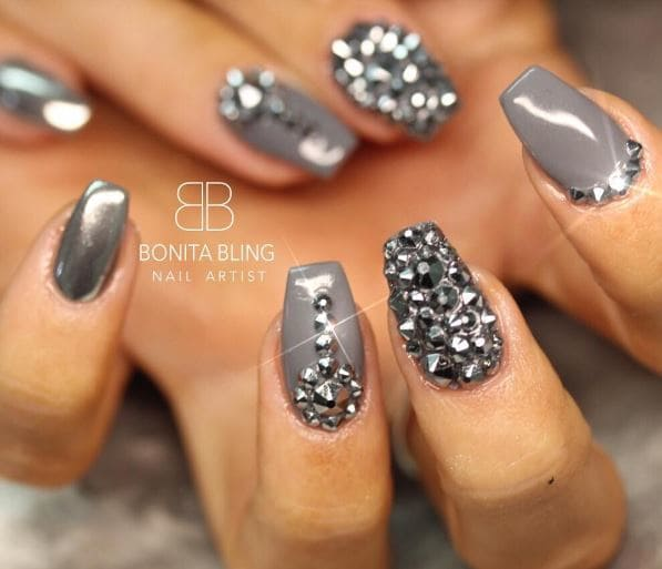 14 gray nail designs to make you stand out flawlessend 8 prinsesfo Gallery
