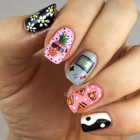 These 90s Inspired Nail Designs Are So Lit Flawlessend