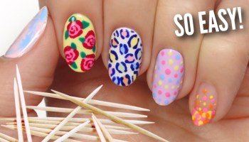 Simple Nail Art Designs Using Toothpicks
