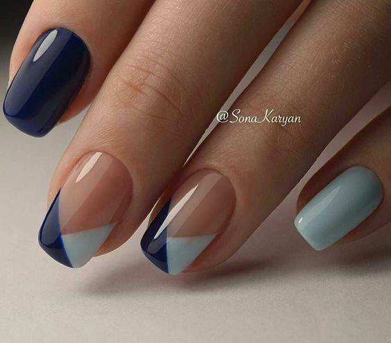 blue light blue pink