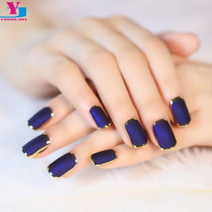 dark blue gold trim