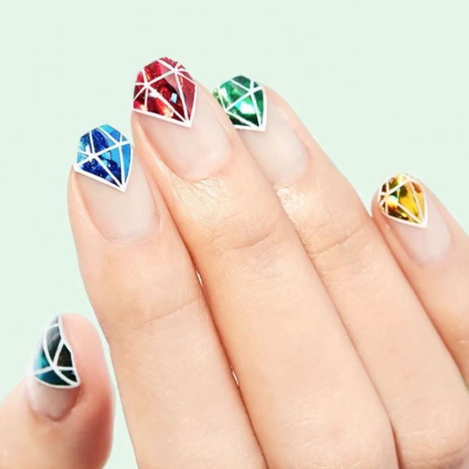 Diamond Nail Designs for a Stunning Effect picture 3