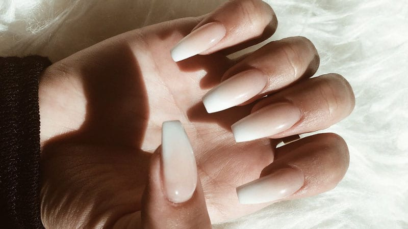White Tip Coffin Nails
