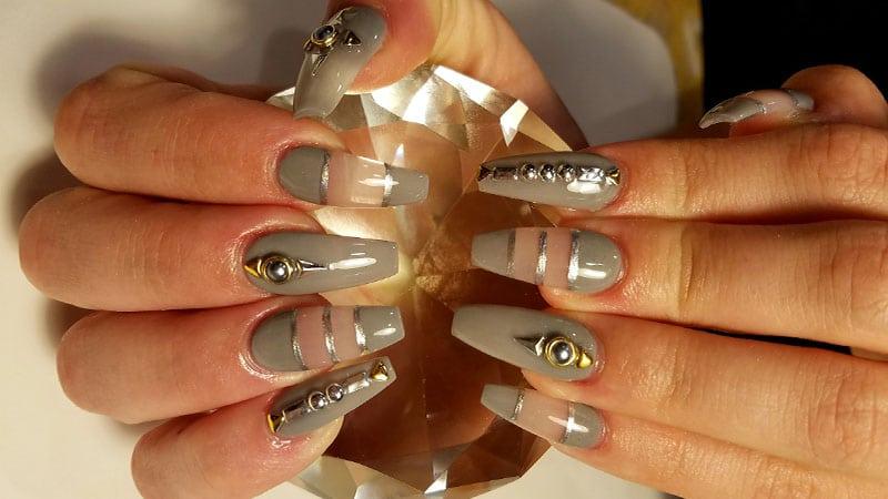 beautiful coffin shape nail