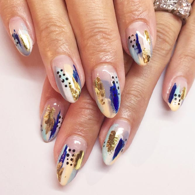 21 Ideas For Gorgeous Nails With Gold Foil Designs – FlawlessEnd