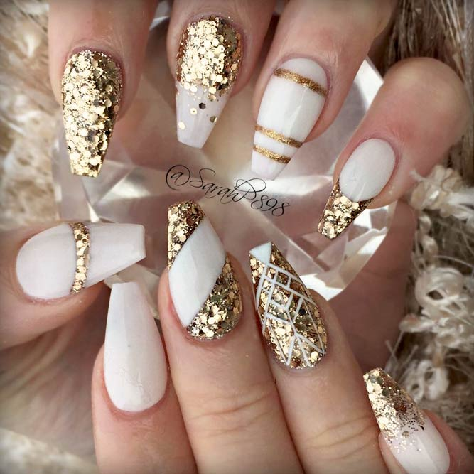 21 Amazing Ideas With Gold Glitter For Luxe Nails Flawlessend