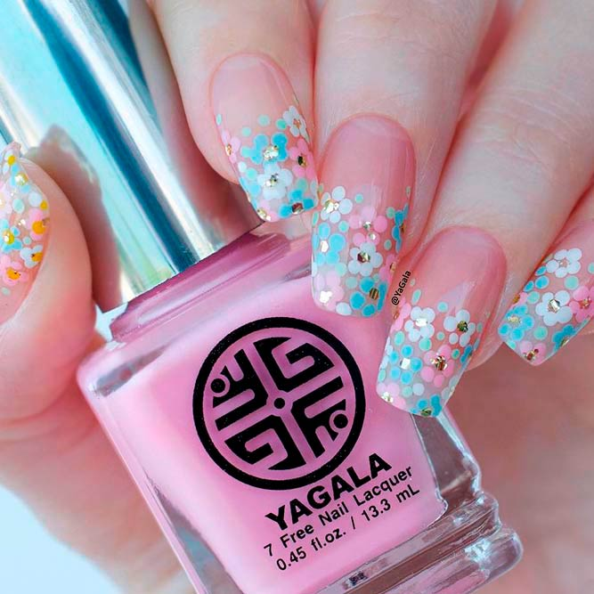 Hand Painted Nails With Beautiful Flowers picture 1