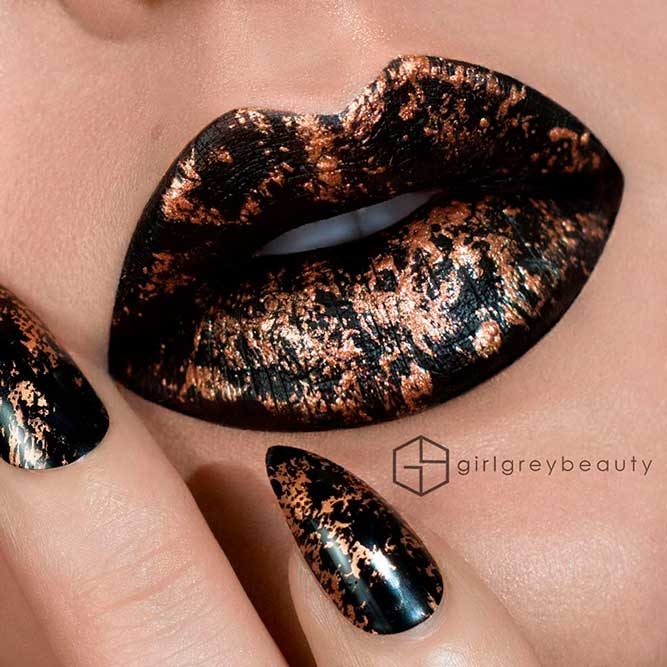Chic Lips and Mani With Wild Mood