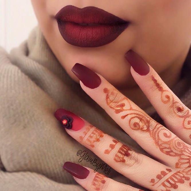 Royal Burgundy Matching Lipstick And Nail Polish