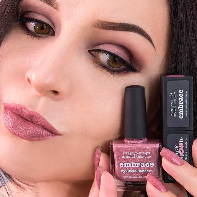 Dusty Rose Matching Lipstick And Nail Polish Sets
