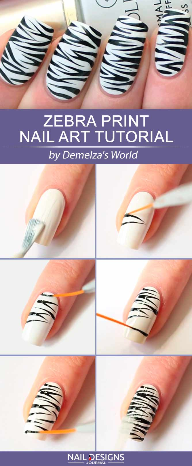 Zebra Print Nails To Let Your Inner Animal Out Flawlessend