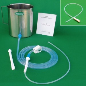 Superior 2 quart Stainless Steel Enema Kit + 10 free Colon tips
