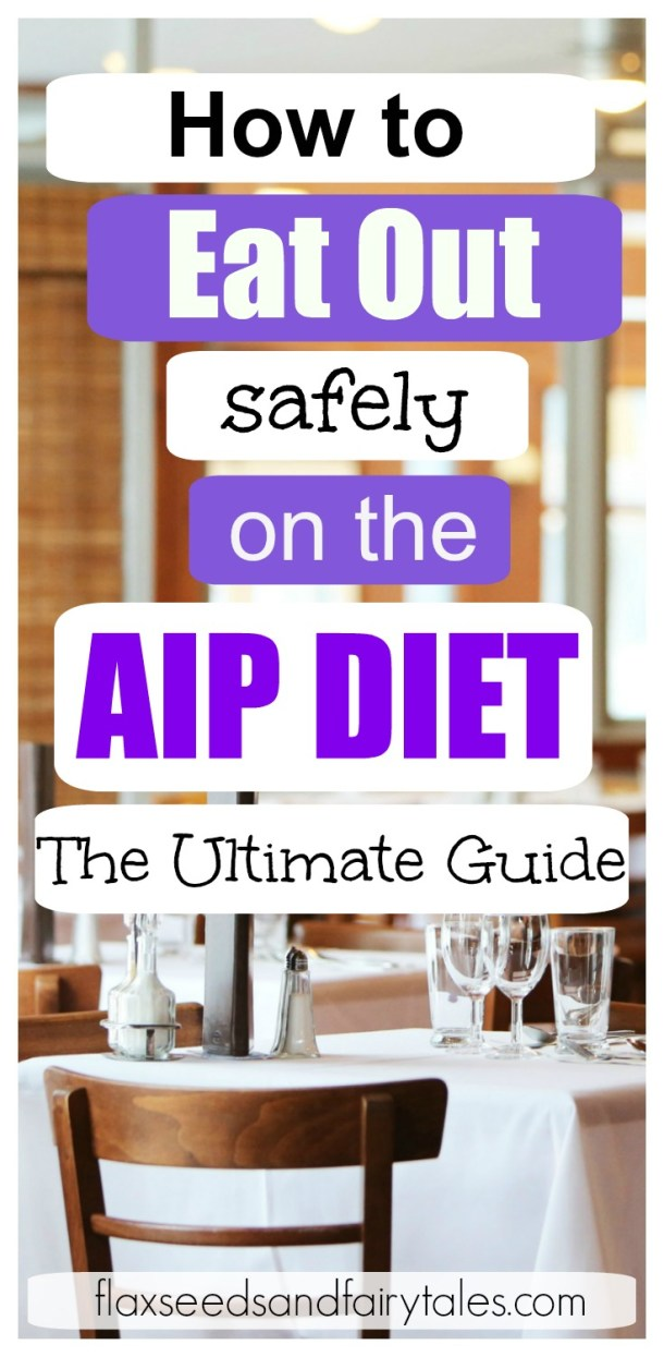 Eating out on AIP—possible? YES! This ultimate guide to eating out on the AIP diet will teach you all the easy tricks for dining out safely at ANY restaurant even during the elimination phase! Great for AIP beginners and those on the paleo diet. Enjoy grain free and healthy food compliant with the Autoimmune Protocol while still having a fun night out! #aipdiet #eatingoutonaip #aipforbeginners #eliminationphase