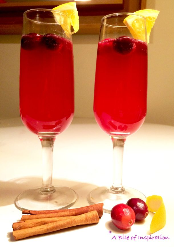 Cranberry drink photo in bad lighting shows how to photograph food for blog