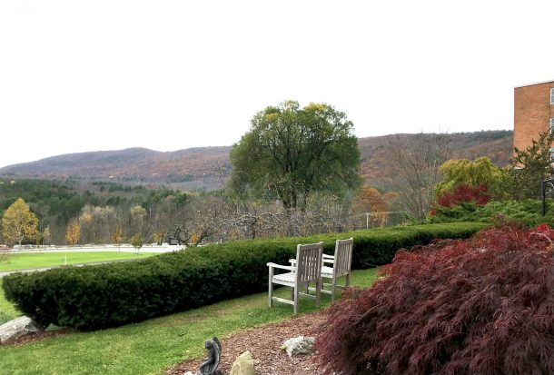 The beautiful view that you can expect at Kripalu Center Retreats