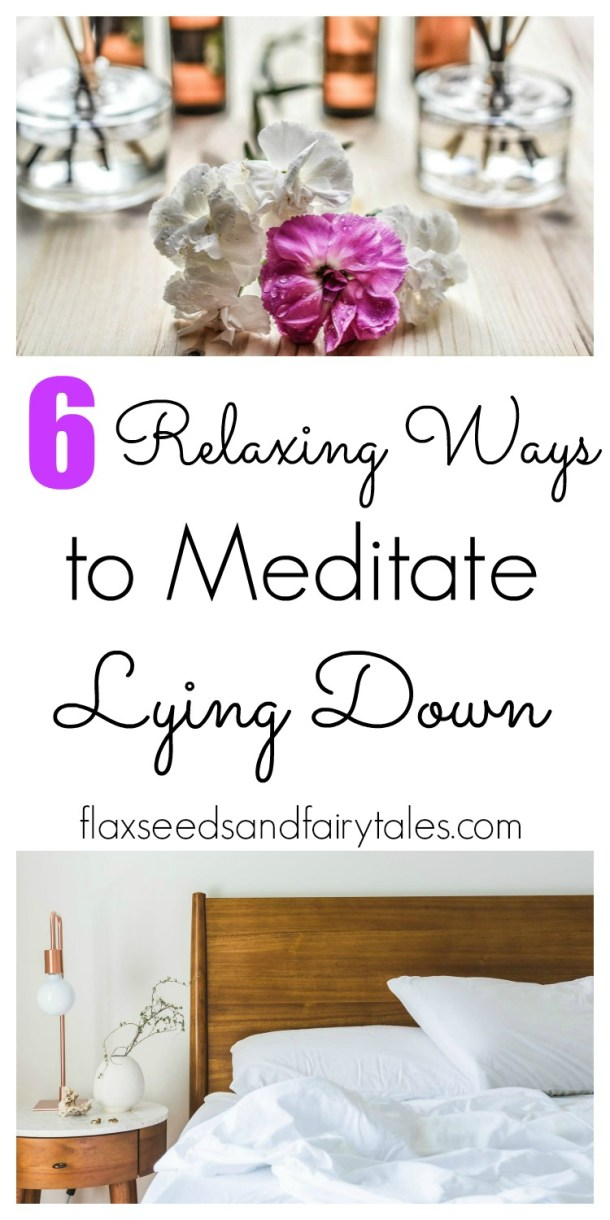 Learn easy and relaxing ways to meditate in bed while laying down!