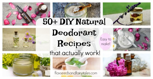 The best DIY natural deodorant recipes. Homemade deodorant that actually works!
