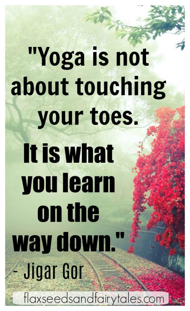 I loved these 18 funny and inspirational yoga quotes! Motivational yoga quotes with a sense of humor taught me about finding balance and letting go. You'll laugh, while learning lots of #sotrue life lessons. #namaste #funnyyogaquotes