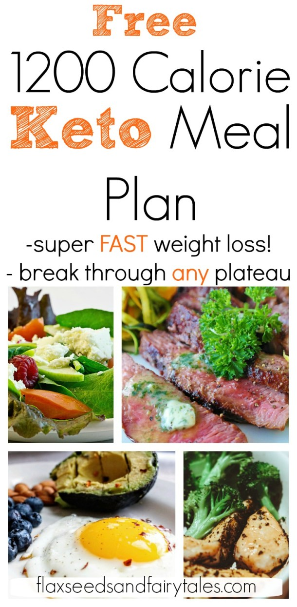 This 1200 calorie low carb meal plan is an easy 7 day menu for fast weight loss on keto! #1200calorieketo #ketoforbeginners #ketomealplan