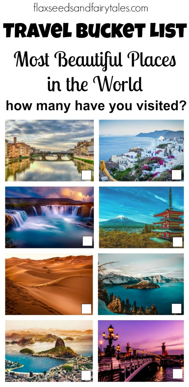 Are these beautiful travel destinations on your bucket list? Check off how many you've traveled to and share it with your friends! Fuel your wanderlust with photography of the world's most beautiful places to visit and get inspiration and ideas for your next adventure! #travelbucketlist #bucketlist #traveldestinations