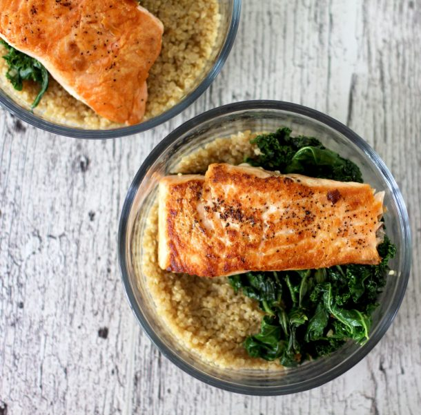 Healthy Salmon and Quinoa Breakfast Bowl without eggs is a great salmon breakfast recipe to start your day