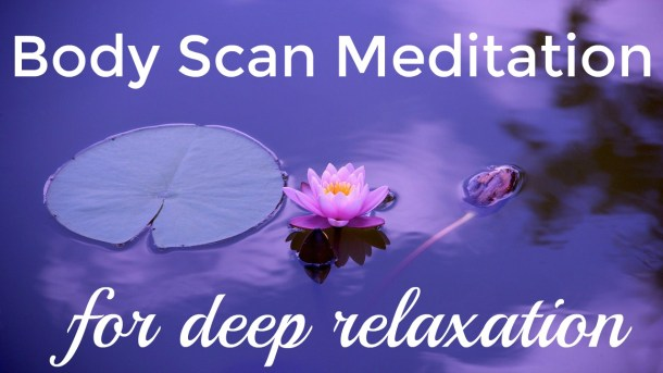 Relaxing purple lotus for Body Scan Meditation