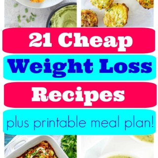 7 days of healthy recipes for quick weight loss on a budget