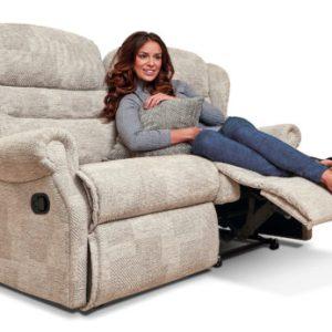 Ashford Small Fabric Reclining 2-Seater Settee