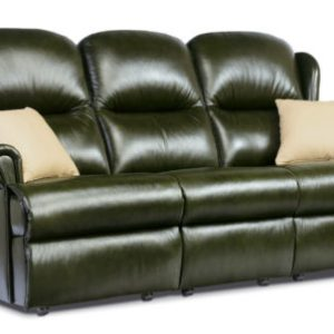 Malvern Standard Leather Fixed 3-Seater Settee