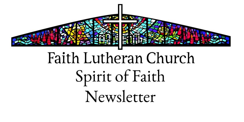 spirit of faith monthly newsletter header faith lutheran church bagley