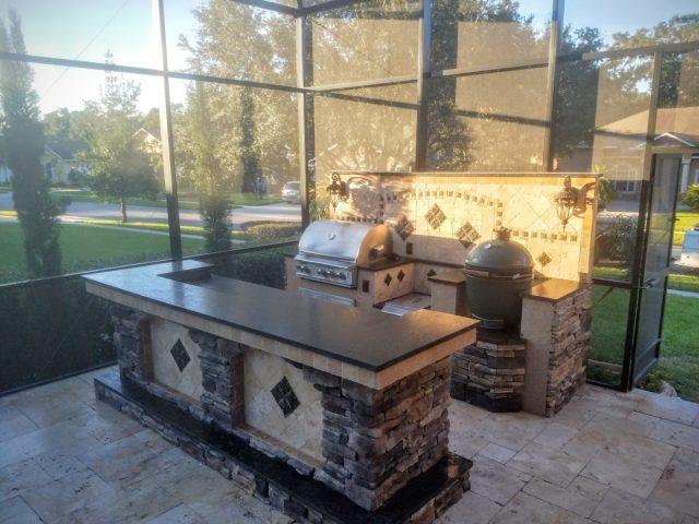 creative outdoor kitchens of florida backsplash - creative outdoor