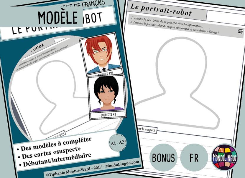 le portrait-robot   activit u00e9 pour d u00e9crire quelqu u0026 39 un - mondolinguo