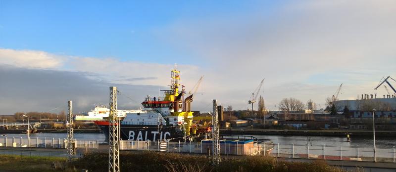Blick aus dem Hafenapartment