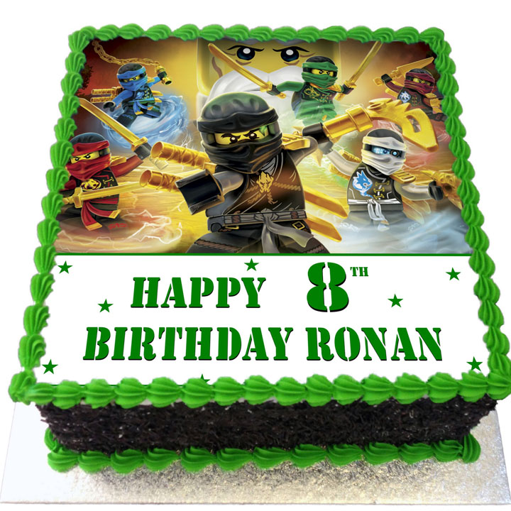 Ninjago Birthday Cake Flecks Cakes