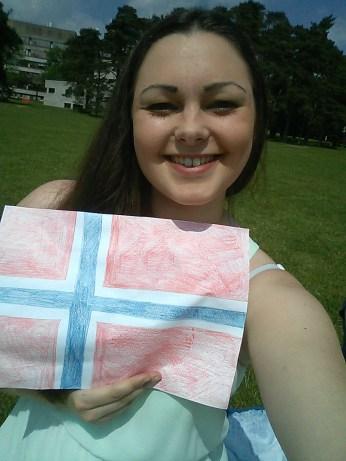 Norwegian flag selfie!
